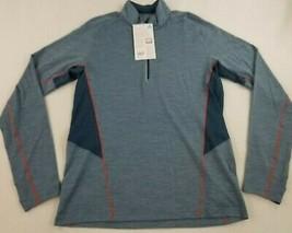new ICEBREAKER men shirt top StrikLt LS HZ 104269401 granite blue sz M - $53.03