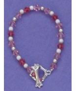 """Handcrafted Pink Swarovski Crystal Bracelet 7"""" - $16.18"""