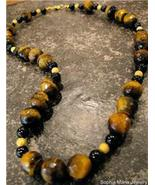 "21"" Tiger Eye Gemstone Necklace Handcrafted - $23.99"
