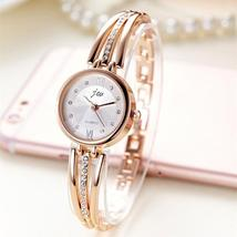 New Fashion Rhinestone Watches Women Luxury Brand Stainless Steel Bracel... - $5.88