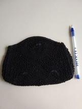 Vintage Black micro bead Handbag Code Authority Coin purse - $9.85