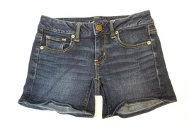 J2736 Womens JUNIORS Blue AMERICAN EAGLE Denim STRETCH Casual JEAN SHORTS 2 - $30.89