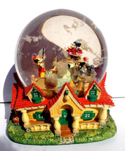 "Walt Disney Mickey Mouse Fantasia Snow Globe - Plays ""When You Wish Upon... - $99.95"