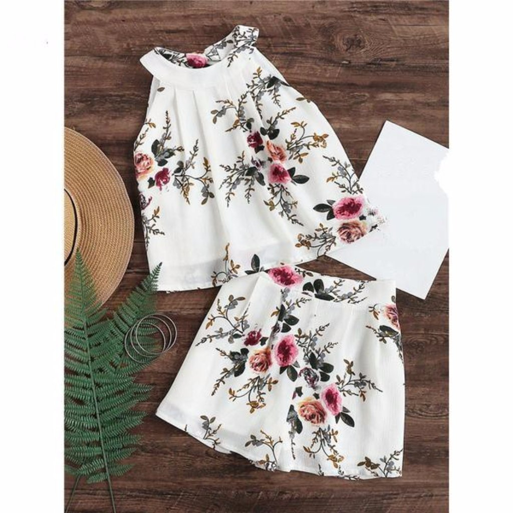 Daisy dress for less women s sets xs two piece set floral chiffon women romper 1232452517919