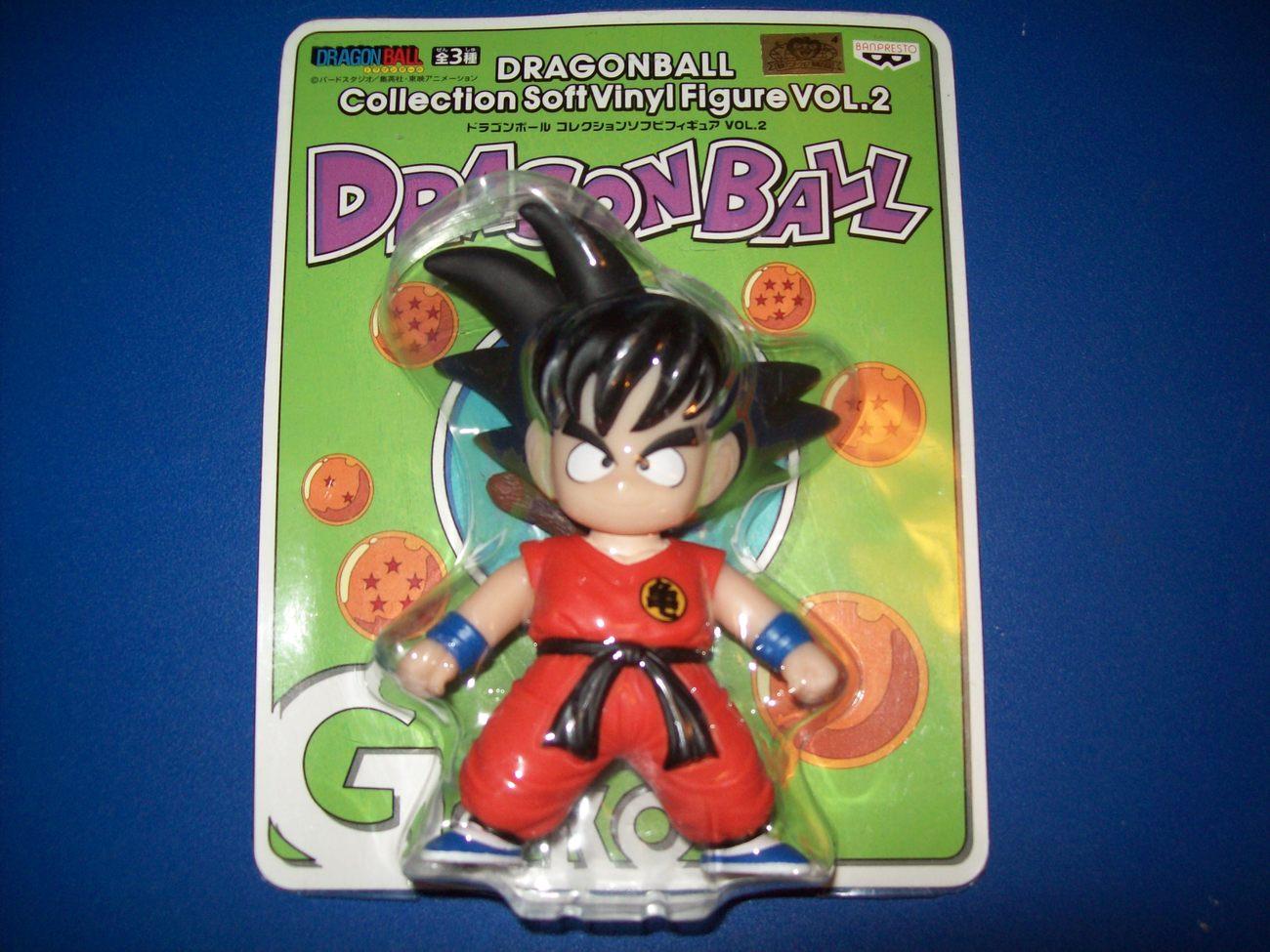"FREE SHIP goku vinyl dragonball z pvc figure 5"" nip banpresto prize nib toy"