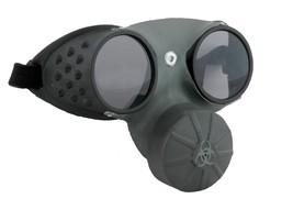 Steampunk Glasses Gas Mask Prop Adult Hazmat Black Sinister Halloween EL... - $33.99