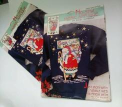 Daisy Kingdom Santa Claus Delivers no sew applique USA MADE Set Lot of 2... - $18.69