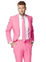 OppoSuits Men's Party Costume Suit, Pink, 46 - $137.13