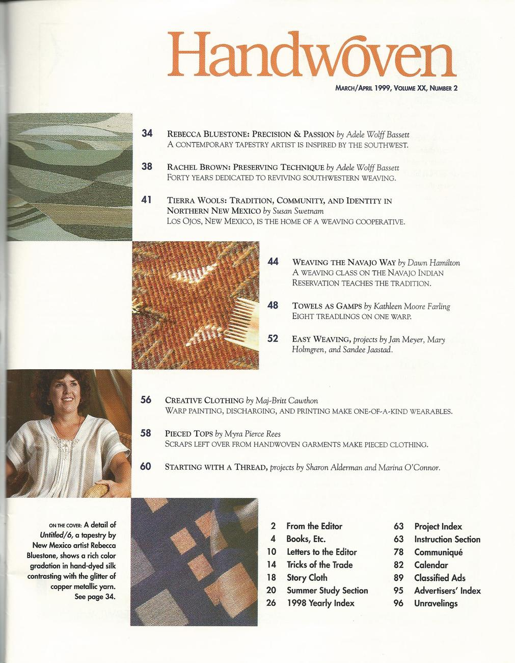 Handwoven Magazine~March/April 1999