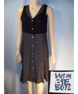 WE BE BOP black check rayon summer dress SMALL - $8.99