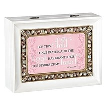 Roman For this Child Large Jeweled Music Box White - $52.38