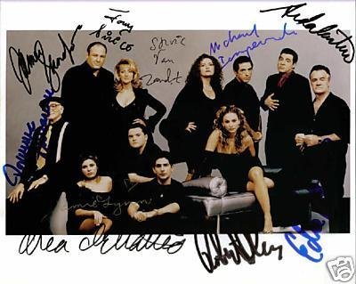The sopranos cast by 10 autographed 8x10 rp photo mob gandolfiini