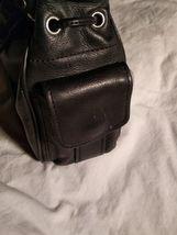 Fossil Genuine Leather Black Shoulder Purse 75082  ZB8023 VINTAGE  image 9