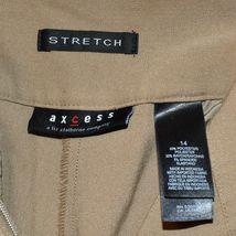 Axcess by Liz Claiborn Women's Tan Khaki Stretch Dress Pants Slacks Size 14 image 3