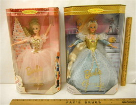 Barbie Doll As Cinderella & Sugar Plum Fairy In Nutcracker 1996 Mattel N... - $35.05