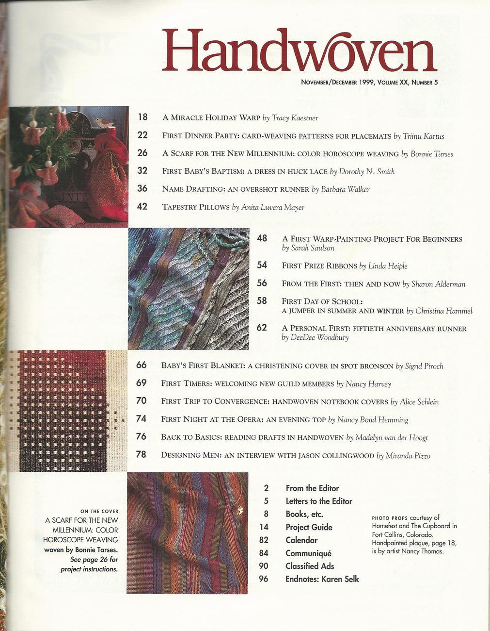 Handwoven Magazine~November/December 1999