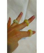 Glass Rings- Assorted colors - $4.00