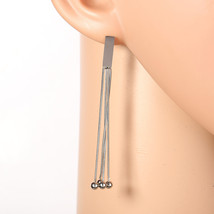 Stylish Silver Tone Designer Drop Earrings with Dangling Tassels - $18.99