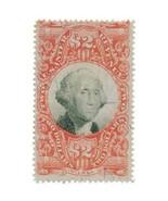 1872 R145 $2 Third Issue, Washington, U.S. Internal Revenue, Vermilion &... - $20.99