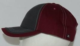 Richardson Contrast Stitching Maroon Charcoal Style 275 Baseball Hat Adjustable image 2