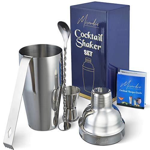 Cocktail Shaker Bar Tools Set – Premium Bartender Accessories Kit – 24 oz Stainl
