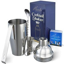 Cocktail Shaker Bar Tools Set – Premium Bartender Accessories Kit – 24 o... - £21.53 GBP
