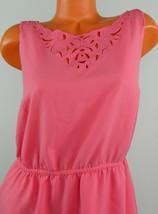 Ann Taylor LOFT 6 Small DRESS Sundress PINK Eyelet Lace Slvlss - $24.05