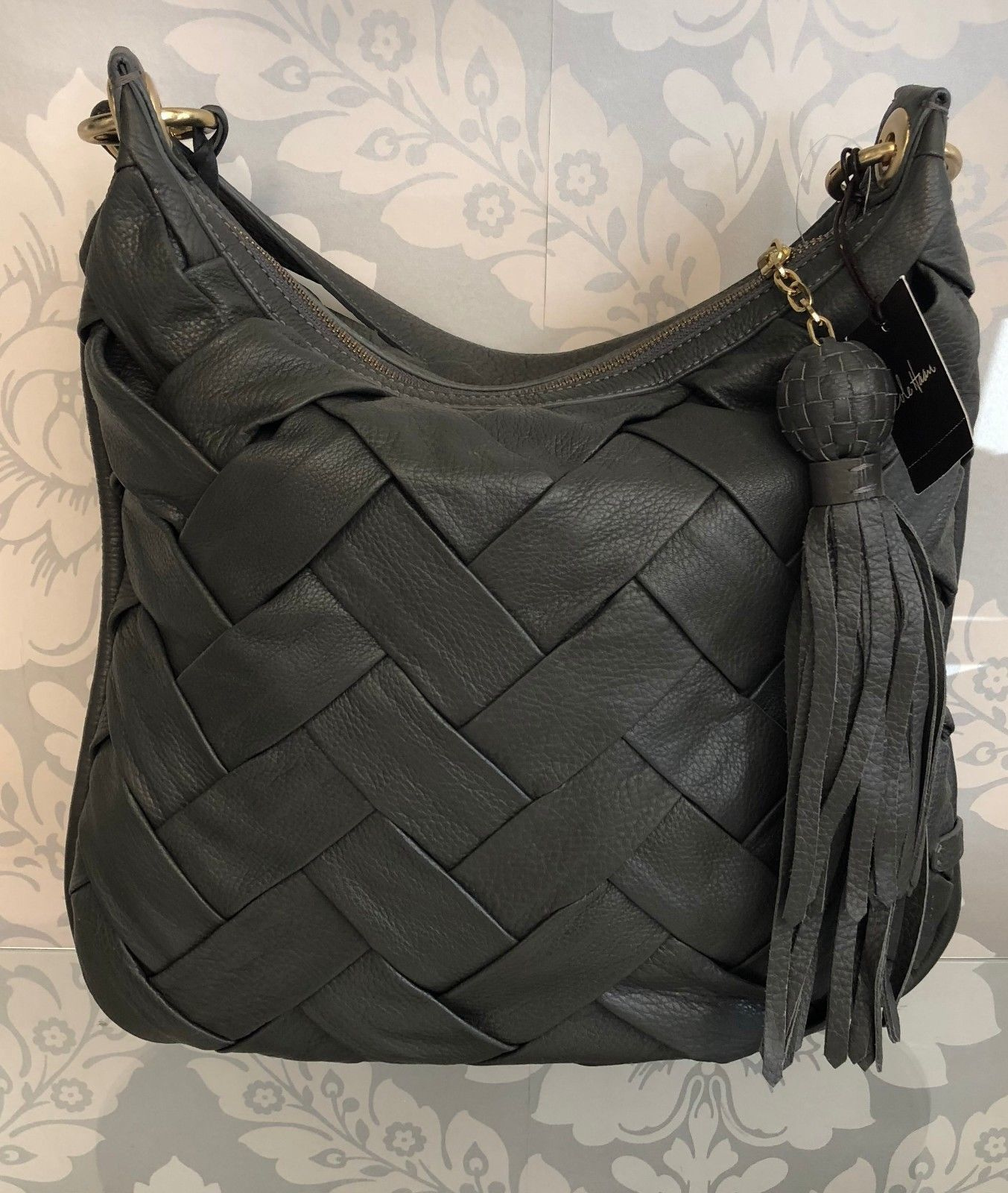 49d3974aa9e0 Cole Haan Gray Woven Hobo Bag  428 Nwt Style and 41 similar items. 57