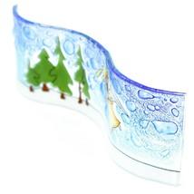 Fused Art Glass Christmas Heraldic Angel Wavy Decor Sun Catcher Handmade Ecuador image 2