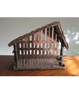 Vtg Christmas Around the World Deluxe Nativity Creche Manger Stable Barn... - $29.99