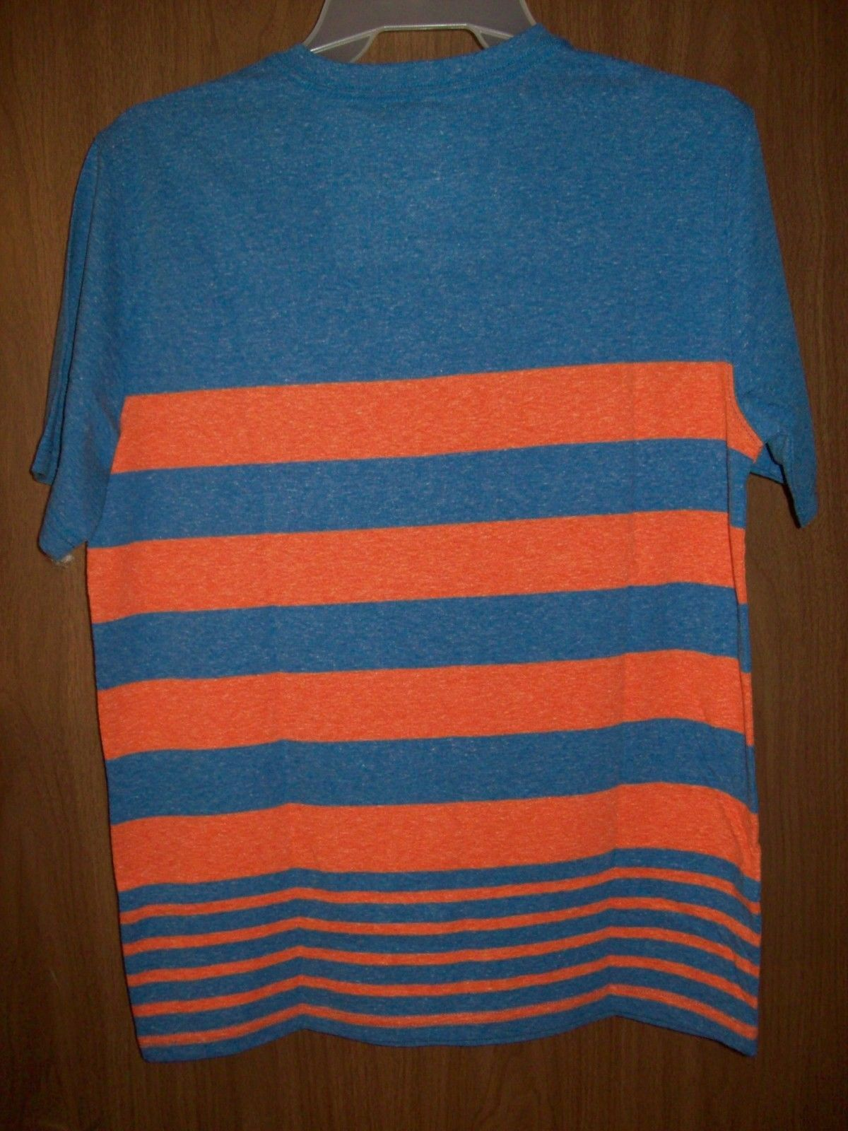 New Boys Wonder Nation Stripe Gray Red Pocket V-Neck Shirt Tee Size Large 10-12