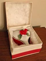 Lefton Heart Shaped Box Miniature Valentine in Original Gift Box Porcelain Rose  - $19.99