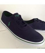NEW POLO RALPH LAUREN Men's Earle Navy Low Canvas Sneakers (Size 12 D) - $49.95