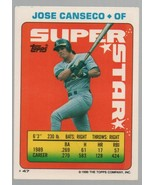 Jose Canseco - OF - Super Star Baseball Card #47 - Topps Company  1990 C... - $0.97