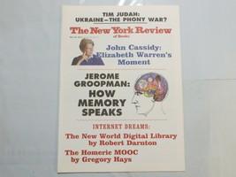 The New York Review of Books 2014 May Elizabeth Warren Homeric Mooc Memo... - $39.99