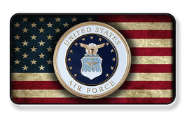 United States Air Force Seal Distressed Flag Magnet-Package of Two - $8.42