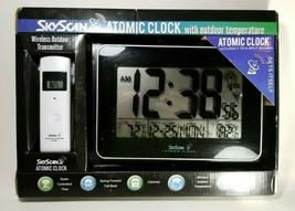 "Skyscan 10"" x 7"" Atomic Clock #88909 *NEW* - $42.56"