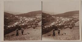 Original vintage 1904 stereoview CZECH spa Luhačovice - $18.46