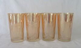 Jeannette Glass, Tumblers, Marigold, Hex Optic, Honeycomb, circa 1960 - $12.00