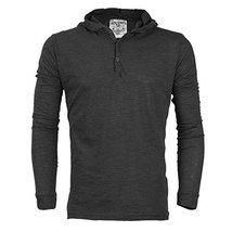 Royal Knights Men's Lightweight Slim Fit Pullover Henley Shirt Hoodie (XL, 01 -