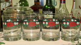 Tienshan Deck The Halls Double Old Fashioned Glasses Set Of Four - $11.88