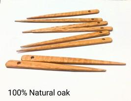 8 Inch Weaving Knitting needles 8 Pack Oak - $15.84