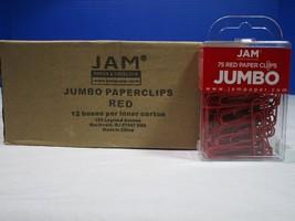 JAM 1 case Jumbo Red Paper Clips ( 12 packs pe... - $41.57