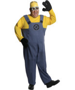 LICENSED DESPICABLE ME MINION DAVE ADULT HALLOWEEN COSTUME SIZE PLUS 1X ... - £26.16 GBP