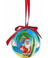 Pacifica Island Art Hawaiian Holiday Ornament Tropical Beach Santa - $9.85