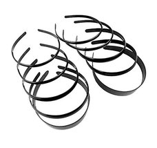 Black Spring Plastic Hair Hoop for Girls Women Men Head Accessory (10 pc... - $16.83