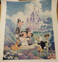DISNEY FAIRY TALE WEDDING EXCLUSIVE LITHOGRAPH NUMBERED SIGNED LIMITED L... - $399.00