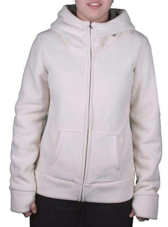 Bench Womens Seedpearl Needful Zip Thru Hooded Fleece Jacket Hoodie BLEA3384 NWT