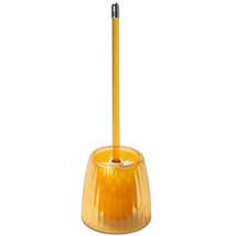Toilet Bowl Brush - Orange Ribbed Acrylic Bath Accessory - $14.49