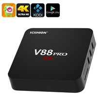 SCISHION V88 Pro Quad-Core Android 6.0 Marshmallow 4K ultra HD TV Box - ... - $56.87